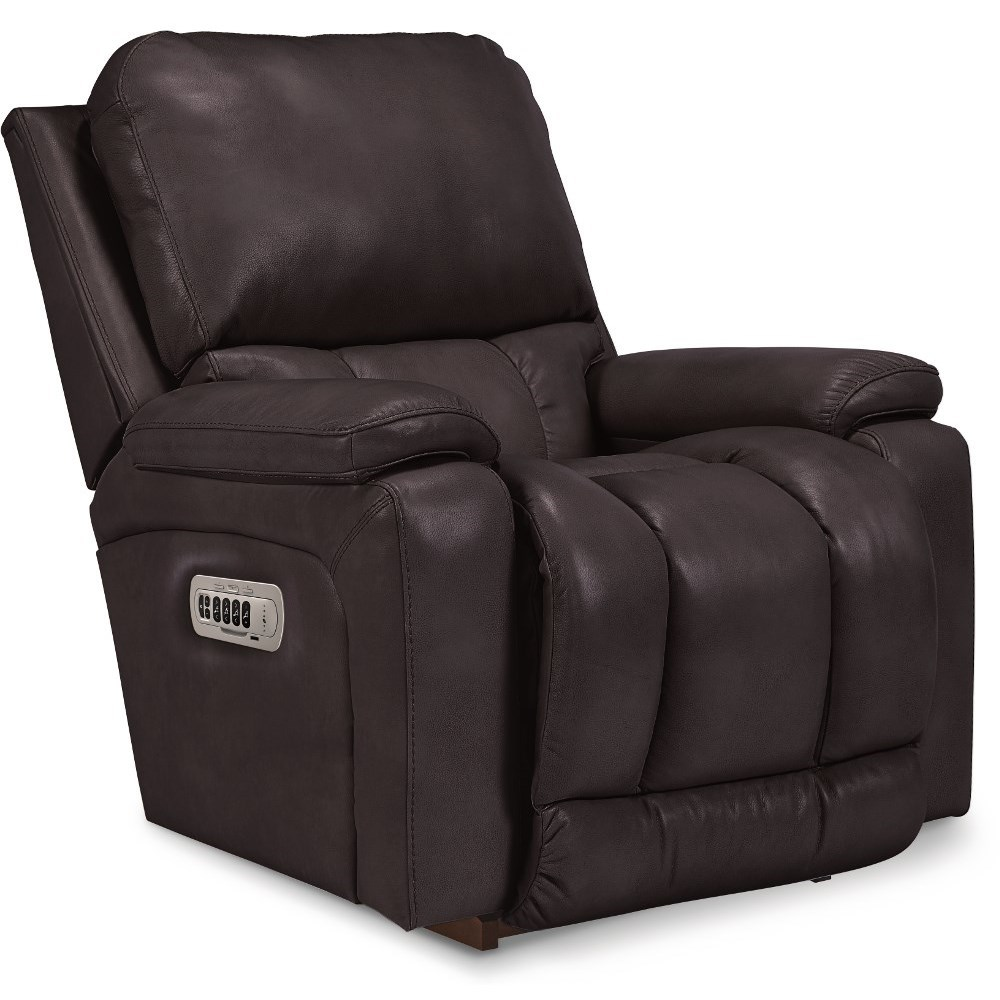 Greyson Power Rocking Recliner w/ Headrest & Lumbar by La-Z-Boy at Factory Direct Furniture