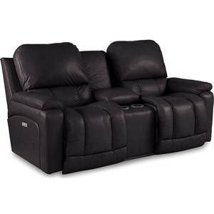 Power La-Z-Time Reclining Console Loveseat
