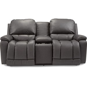 Casual Power La-Z-Time Full Reclining Loveseat with Bucket Seating