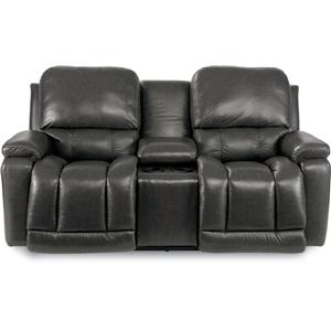 Casual Power Reclining Console Loveseat with USB Charging Ports and Power Tilt Headrests