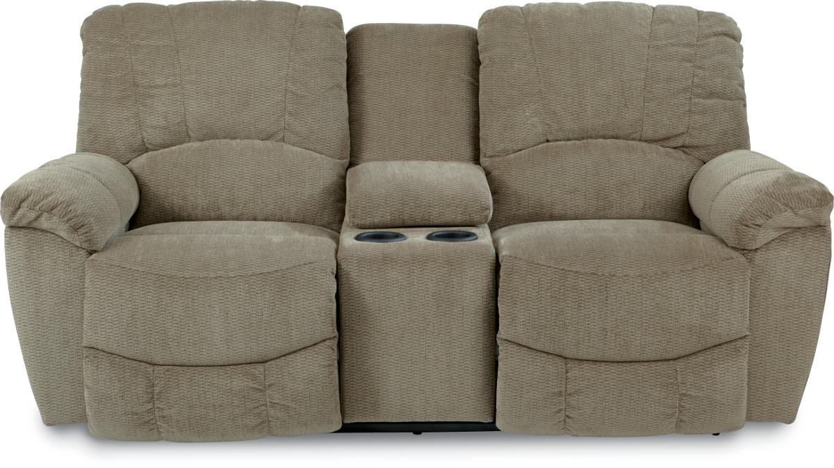 Hayes Reclining Loveseat w/Console by La-Z-Boy at Reid's Furniture