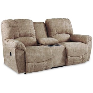 Power Loveseat w/ Console & Pwr Headrest