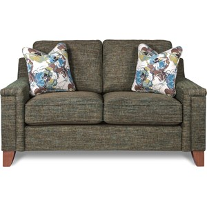 Contemporary Premier Loveseat with Comfort Core Cushions