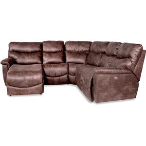 Four Piece Reclining Sectional Sofa with RAS Reclining Chaise