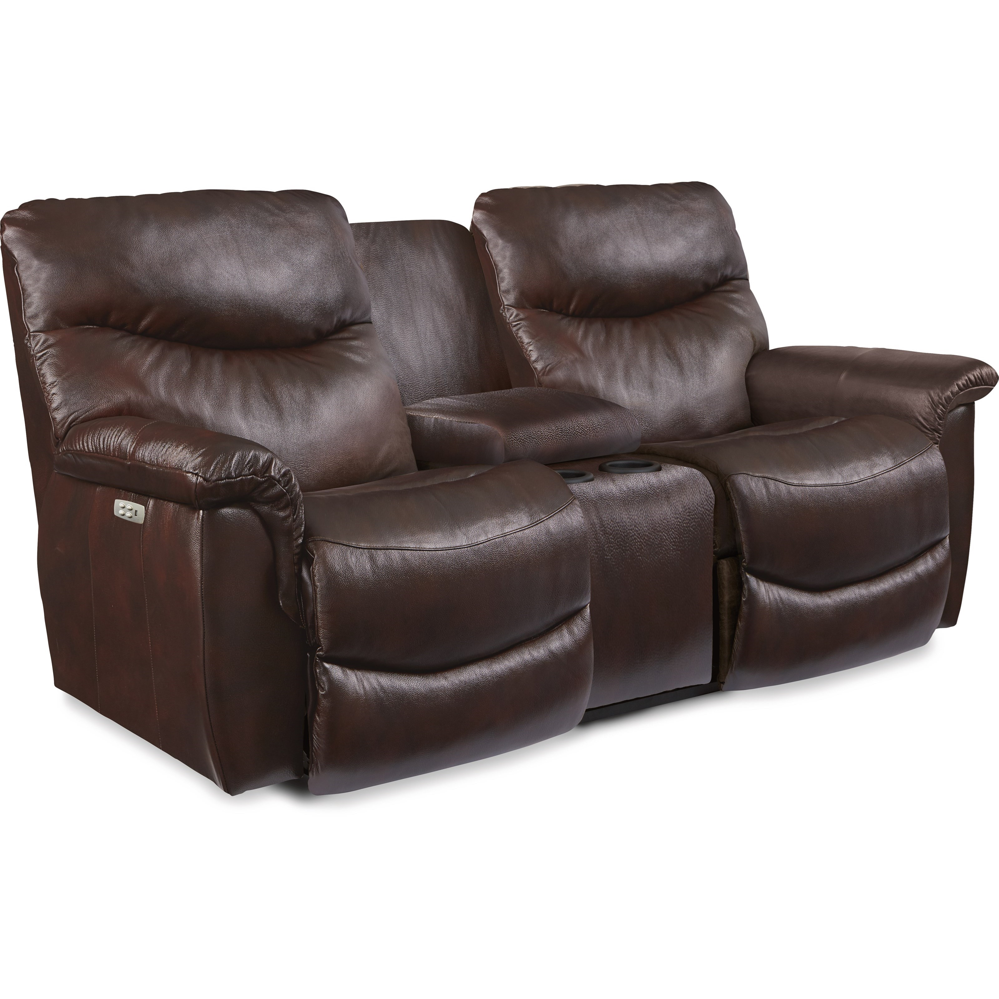 James Power Reclining Loveseat with Console by La-Z-Boy at Johnny Janosik