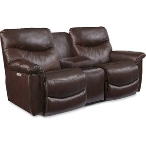 Casual Power La-Z-Time® Full Reclining Loveseat with Middle Console