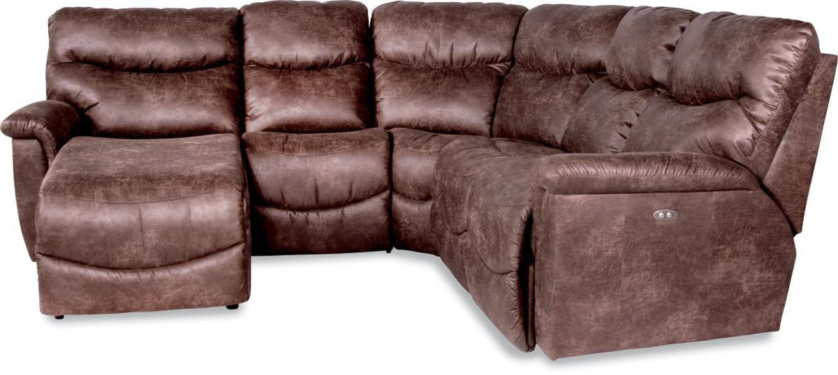 James 4 Pc Power Reclining Sectional Sofa by La-Z-Boy at SuperStore