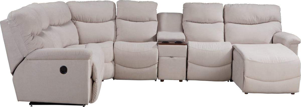 James 6 Pc Power Reclining Sectional w/ LAS Chaise by La-Z-Boy at Houston's Yuma Furniture