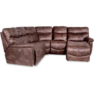 Four Piece Power Reclining Sectional Sofa with LAS Reclining Chaise