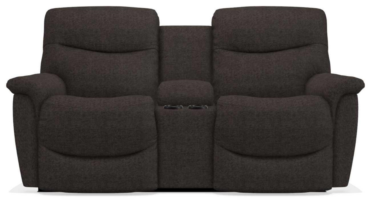 James Power Reclining Loveseat with Console by La-Z-Boy at Bennett's Furniture and Mattresses