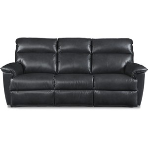 Casual Power Reclining Sofa with Power Tilt Headrests and USB Charging Ports