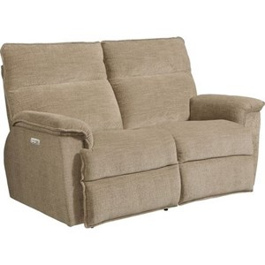 Casual Power Reclining Loveseat with Power Tilt Headrests and USB Charging Ports