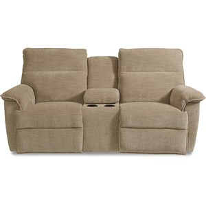 Casual Power Reclining Loveseat w/ Cupholder Storage Console and 2 USB Charging Ports