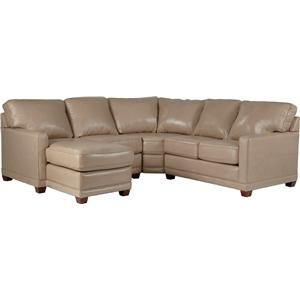 Transitional Sectional Sofa with RAS Chaise