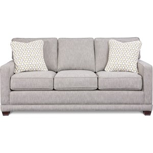 Transitional Sofa with Wood Legs and Welt Cord