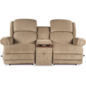 Three Power-Recline-XR Reclining Loveseat with Cupholder Storage Console