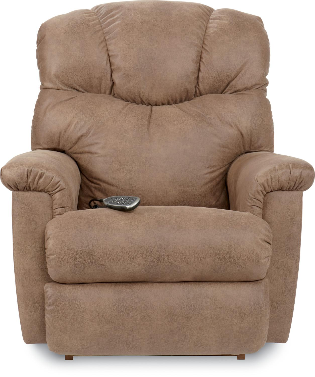 Lancer Power Rocking Recliner w/ Headrest by La-Z-Boy at Bennett's Furniture and Mattresses