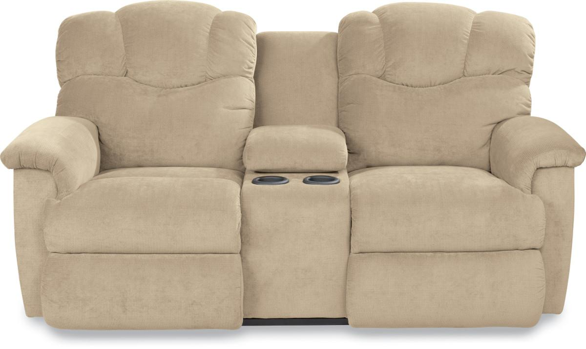 Lancer Reclining Loveseat w/ Console by La-Z-Boy at Jordan's Home Furnishings