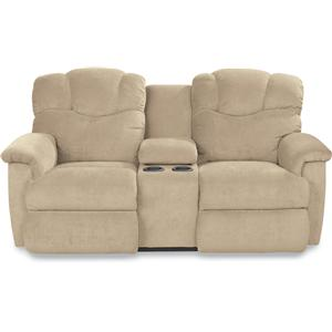 La-Z-Time? Full Reclining Loveseat with Console and Cup Holders