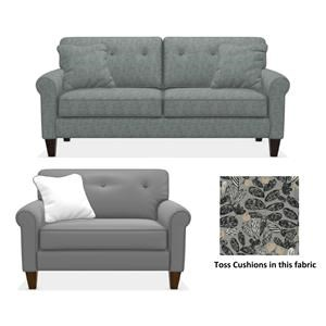 Rolled Arm Sofa and Chair and a Half