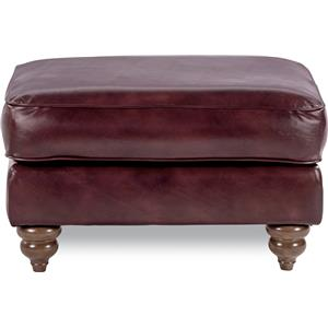 Traditional Ottoman with Premier Comfort Core Cushions