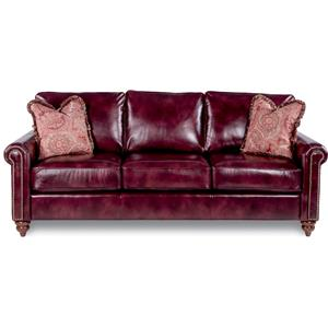 Traditional Rolled Arm Sofa with Premier Comfort Core Cushions