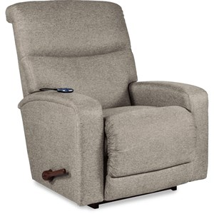 Contemporary Rocker Recliner with 2-Motor Massage & Heat and USB Port