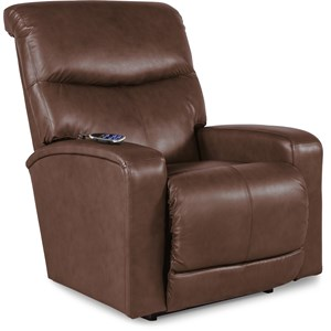 Contemporary PowerReclineXR Rocker Recliner with 2 Motor Massage & Heat