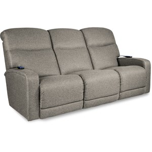 Contemporary Power-Recline-XRw+ Reclining Sofa with Power Headrests and Lumbar