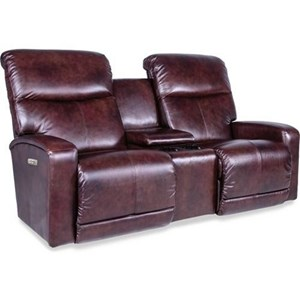 Contemporary Power-Recline-XRw Space Saver Loveseat with Cupholder Storage Console and USB Charging Ports