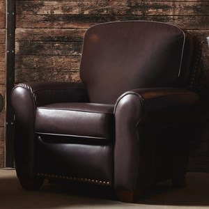 Emerson High Leg Recliner with Nailhead Trim