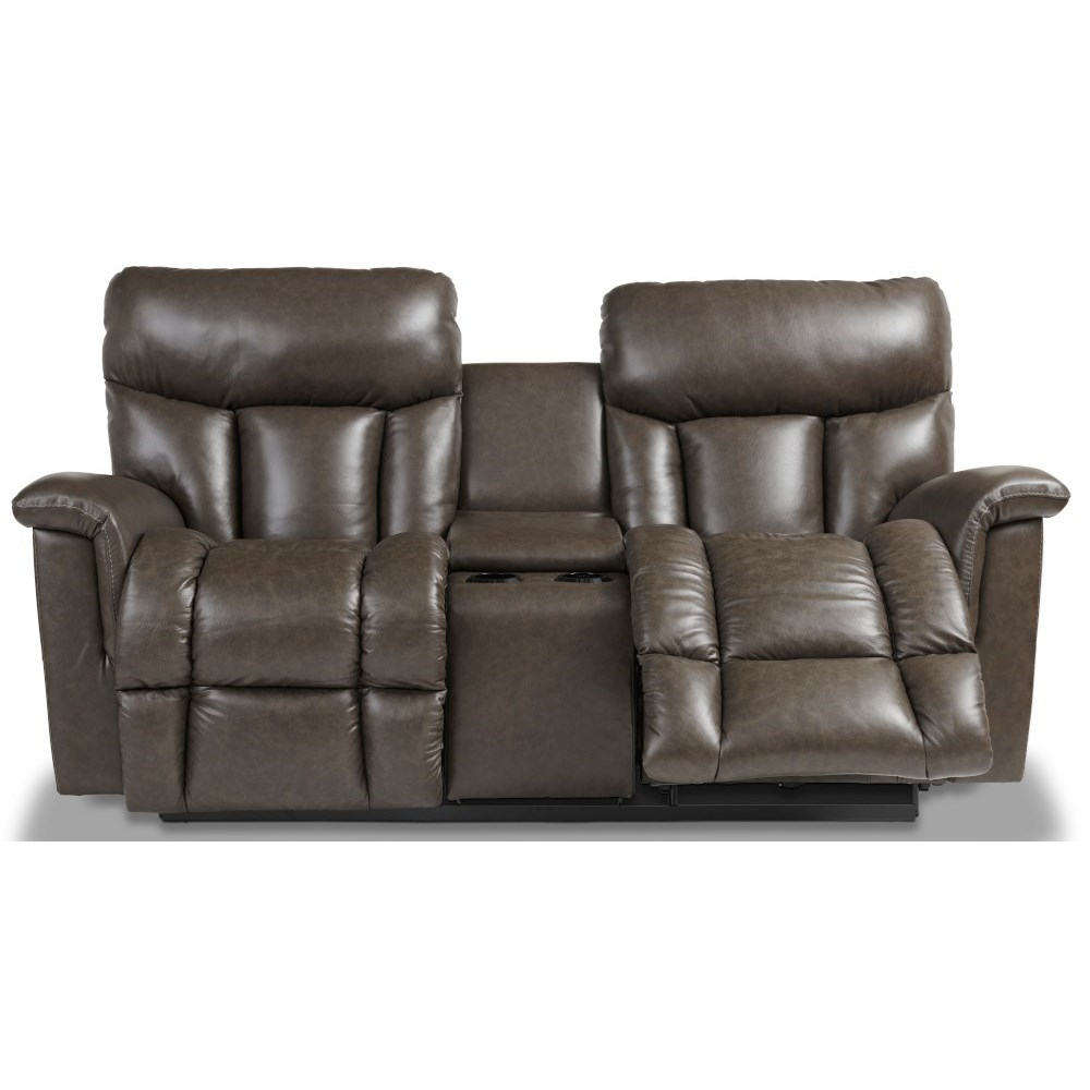 Mateo Wall Reclining Loveseat w/ Console by La-Z-Boy at SuperStore