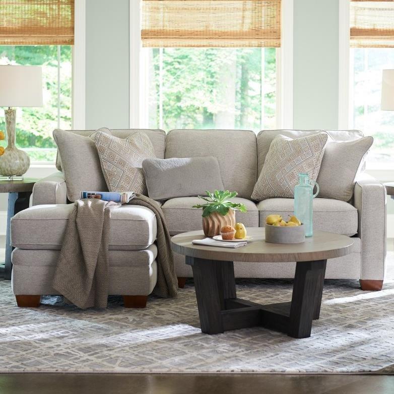 Meyer 2-Pc Sectional w/ RAS Chaise by La-Z-Boy at Jordan's Home Furnishings