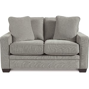 Contemporary Loveseat with Premier ComfortCore Cushions
