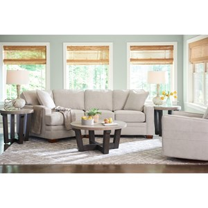 La Z Boy Meyer Contemporary 2 Piece Sectional With Left