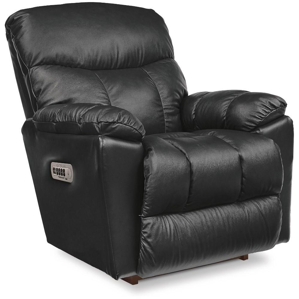 Morrison Power Wall Recliner w/ Headrest & Lumbar by La-Z-Boy at Bennett's Furniture and Mattresses
