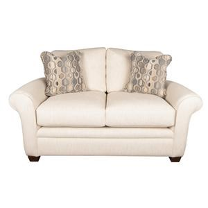 Casual Loveseat with Accent Pillows