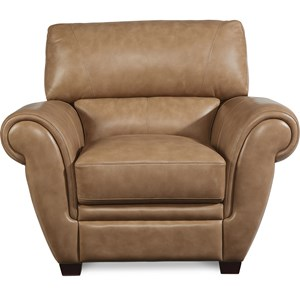 Leather Match Stationary Chair