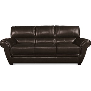 Leather Match Sofa