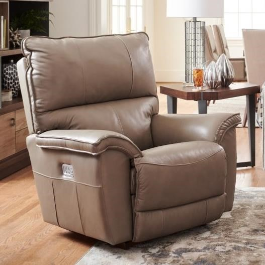 Norris Power Rocking Recliner w/ Headrest & Lumbar by La-Z-Boy at Home Furnishings Direct