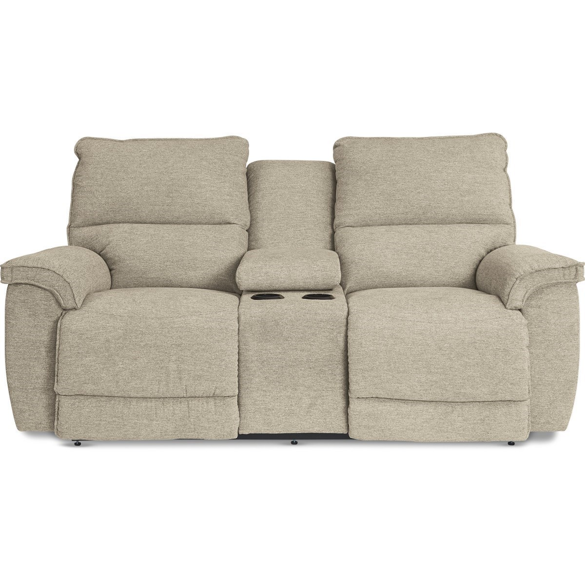 Norris Power Recline Love w/ Console & Pwr Headrest by La-Z-Boy at Home Furnishings Direct