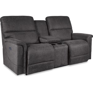 Power Reclining Loveseat with Cupholder Storage Console and USB Charging Ports