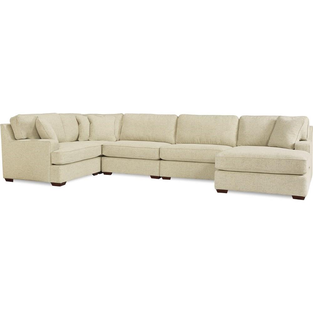 Paxton 5-Seat Sectional Sofa w/Left arm sitting cha by La-Z-Boy at Johnny Janosik