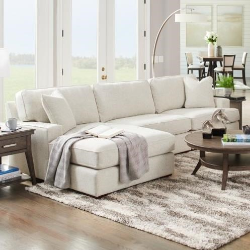Paxton 3-Seat Chaise Sectional with Left Chaise by La-Z-Boy at Godby Home Furnishings