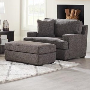 Oversized Chair & Ottoman Set