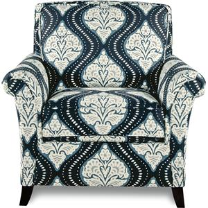 Transitional Flared Arm Chair