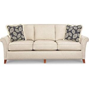 Transitional Flared Arm Sofa