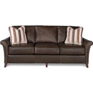 Transitional Flared Arm Sofa