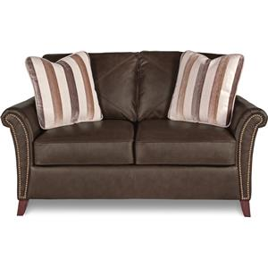 Transitional Flared Arm Loveseat