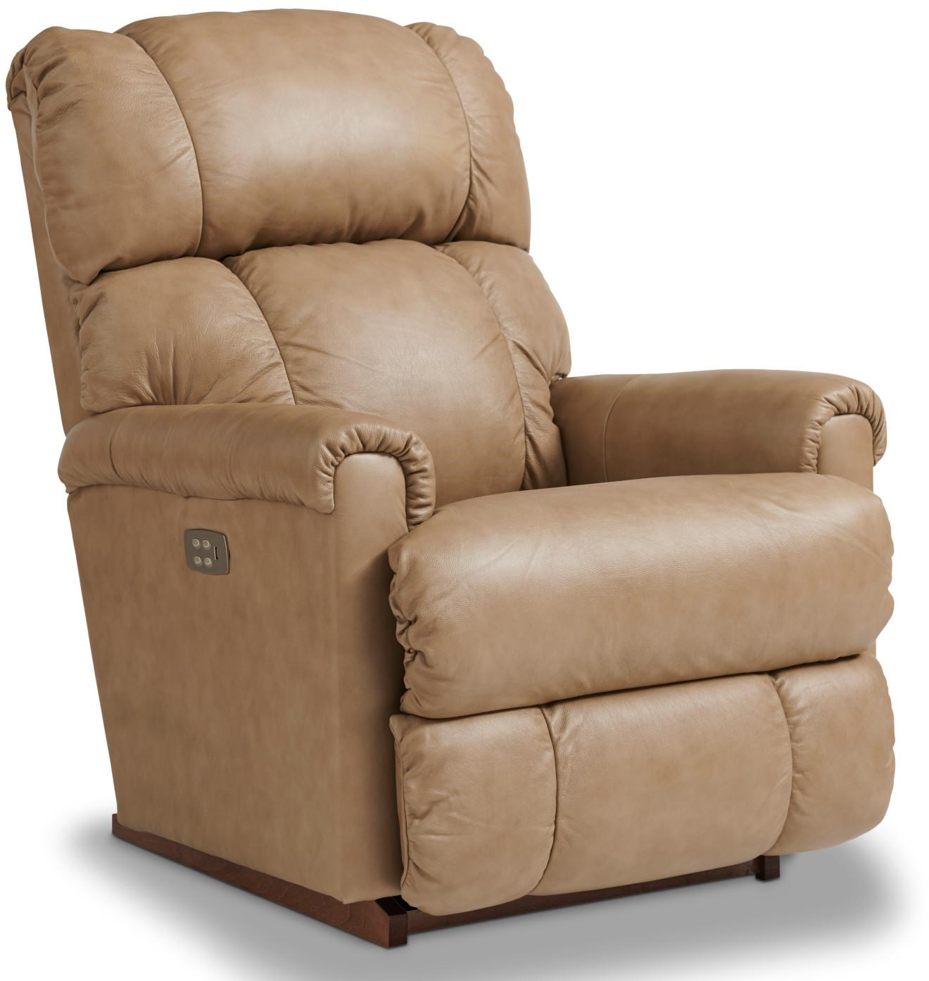 Pinnacle Leather Power Recliner by La-Z-Boy at Bennett's Furniture and Mattresses